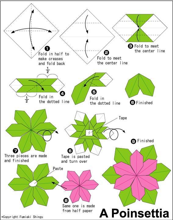 Diy Origami Christmas Wreath